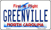 Greenville North Carolina State License Plate Wholesale Magnet M-6477