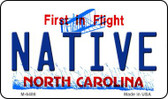 Native North Carolina State License Plate Wholesale Magnet M-6486
