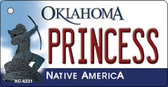 Princess Oklahoma State License Plate Novelty Wholesale Key Chain KC-6231