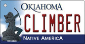 Climber Oklahoma State License Plate Novelty Wholesale Key Chain KC-6246