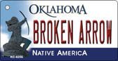 Broken Arrow Oklahoma State License Plate Novelty Wholesale Key Chain KC-6256