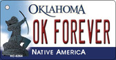 OK Forever Oklahoma State License Plate Novelty Wholesale Key Chain KC-6264