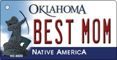 Best Mom Oklahoma State License Plate Novelty Wholesale Key Chain KC-6655