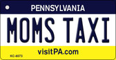 Moms Taxi Pennsylvania State License Plate Wholesale Key Chain KC-6073