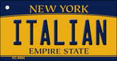 Italian New York State License Plate Wholesale Key Chain KC-8964