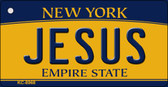 Jesus New York State License Plate Wholesale Key Chain KC-8968