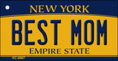 Best Mom New York State License Plate Wholesale Key Chain KC-8987