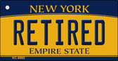 Retired New York State License Plate Wholesale Key Chain KC-8992