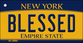 Blessed New York State License Plate Wholesale Key Chain KC-8994