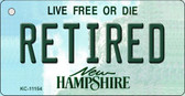 Retired New Hampshire State License Plate Wholesale Key Chain KC-11154