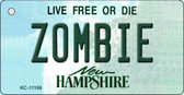 Zombie New Hampshire State License Plate Wholesale Key Chain KC-11156