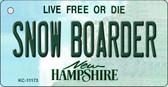 Snow Boarder New Hampshire State License Plate Wholesale Key Chain KC-11173