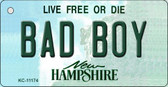 Bad Boy New Hampshire State License Plate Wholesale Key Chain KC-11174