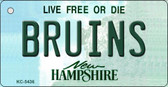 Bruins New Hampshire State License Plate Wholesale Key Chain KC-5436