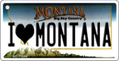 I Love Montana State License Plate Novelty Wholesale Key Chain KC-11086