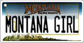 Montana Girl State License Plate Novelty Wholesale Key Chain KC-11088