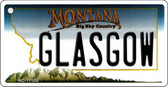 Glasgow Montana State License Plate Novelty Wholesale Key Chain KC-11100