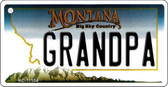 Grandpa Montana State License Plate Novelty Wholesale Key Chain KC-11104