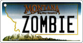 Zombie Montana State License Plate Novelty Wholesale Key Chain KC-11107