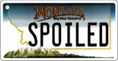 Spoiled Montana State License Plate Novelty Wholesale Key Chain KC-11108