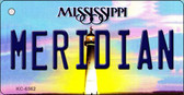 Meridian Mississippi State License Plate Wholesale Key Chain KC-6562