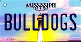 Bulldogs Mississippi State License Plate Wholesale Key Chain KC-6563
