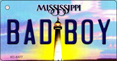 Bad Boy Mississippi State License Plate Wholesale Key Chain KC-6577