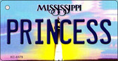 Princess Mississippi State License Plate Wholesale Key Chain KC-6579