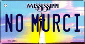 No Murci Mississippi State License Plate Wholesale Key Chain KC-6595