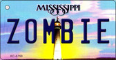 Zombie Mississippi State License Plate Wholesale Key Chain KC-6750