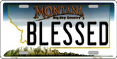 Blessed Montana State Novelty Wholesale License Plate LP-11120