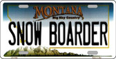 Snow Boarder Montana State Novelty Wholesale License Plate LP-11123