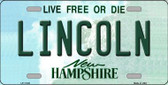 Lincoln New Hampshire State Wholesale License Plate LP-11149