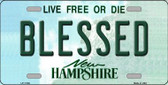 Blessed New Hampshire State Wholesale License Plate LP-11168