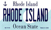 Rhode Island State License Plate Novelty Wholesale Magnet M-11179