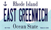 East Greenwich Rhode Island State License Plate Novelty Wholesale Magnet M-11190