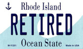 Retired Rhode Island State License Plate Novelty Wholesale Magnet M-11201