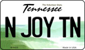 N Joy TN Tennessee State License Plate Wholesale Magnet M-6435