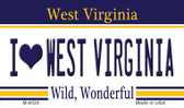I Love West Virginia State License Plate Wholesale Magnet M-6520