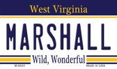 Marshall West Virginia State License Plate Wholesale Magnet M-6543