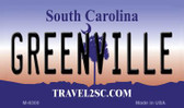 Greenville South Carolina State License Plate Wholesale Magnet M-6300