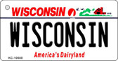 Wisconsin License Plate Novelty Wholesale Key Chain KC-10608