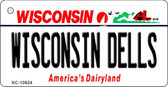 Wisconsin Dells License Plate Novelty Wholesale Key Chain KC-10624