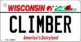 Climber Wisconsin License Plate Novelty Wholesale Key Chain KC-10657