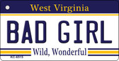 Bad Girl West Virginia License Plate Wholesale Key Chain