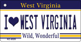 I Love West Virginia License Plate Wholesale Key Chain