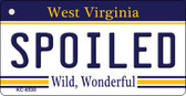 Spoiled West Virginia License Plate Wholesale Key Chain