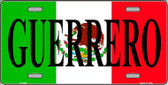 Guerrero Mexico Wholesale Metal Novelty License Plate LP-3452