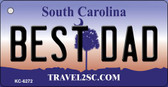 Best Dad South Carolina License Plate Wholesale Key Chain