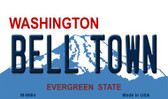 Bell Town Washington State License Plate Wholesale Magnet M-8684